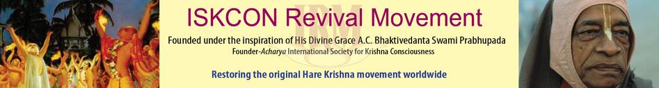 ISKCON Revival Movement :: Restoring the Original Hare Krishna Movement Worldwide.